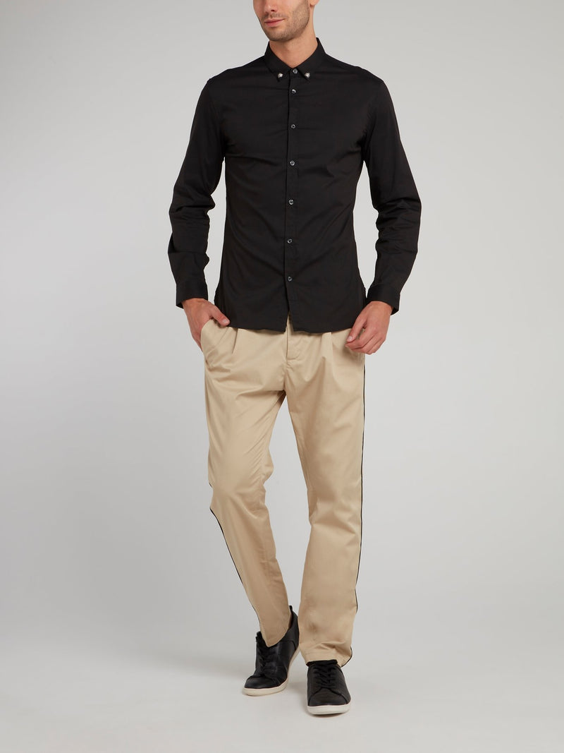 Light Brown Straight Cut Trousers