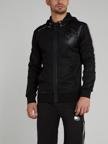Black Hooded Sweat Jacket