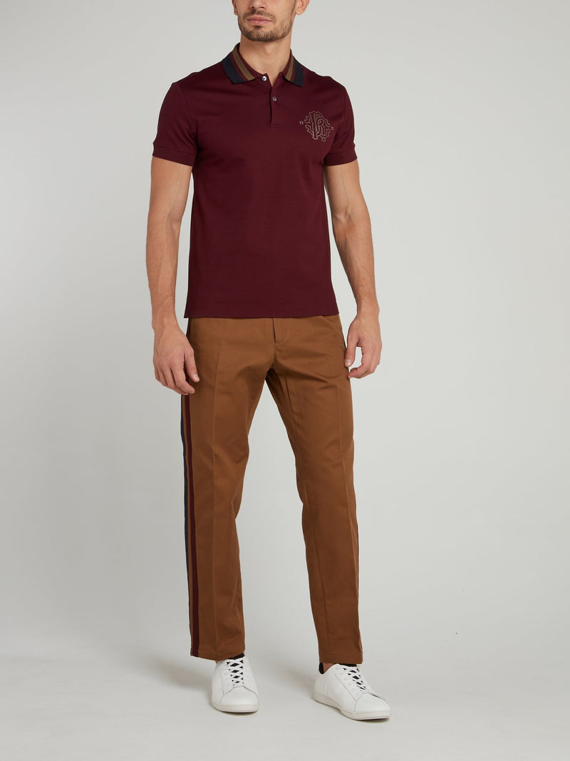 Brown Straight Cut Pants