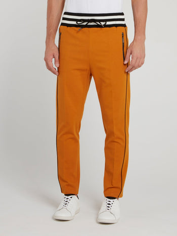 Mustard Striped Waistband Trousers