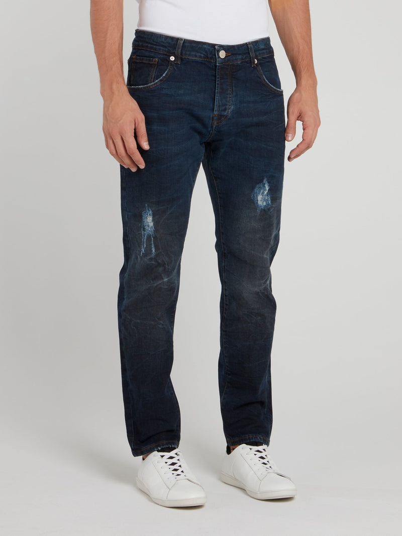 Dark Wash Distressed Pants