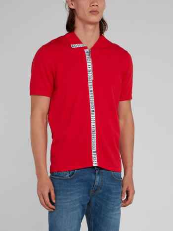 Red Logo Tape Polo Shirt