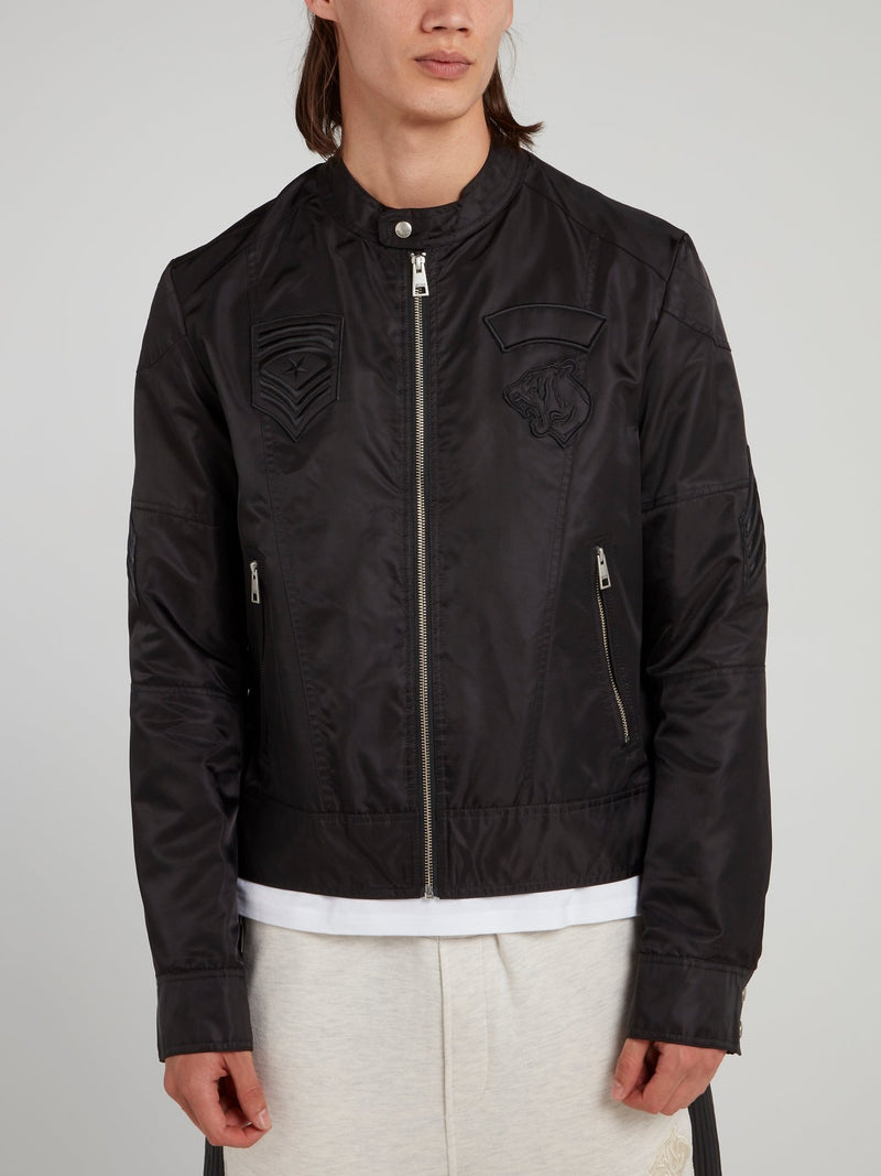 Black Clasp Neck Sports Jacket