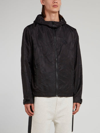 Black Zip Up Sports Jacket