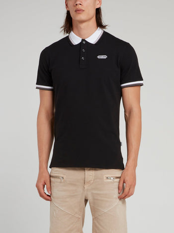 Black Contrast Polo Shirt