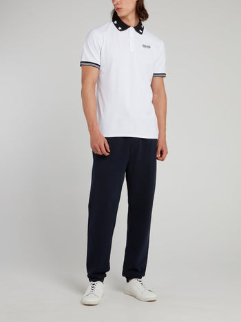White Star Collar Polo Shirt