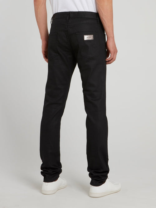 Black Star Detail Trousers