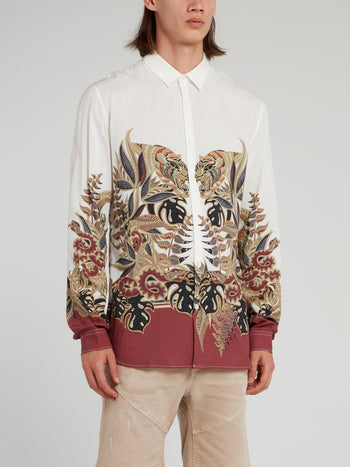 Jungle Print Long Sleeve Shirt