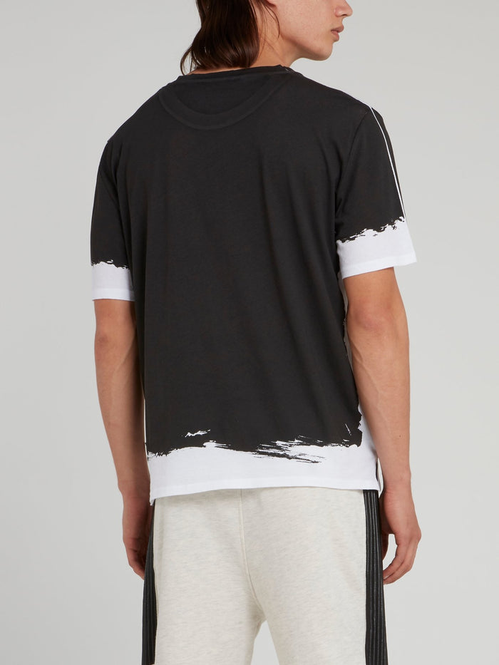 Black Wash Contrast T-Shirt