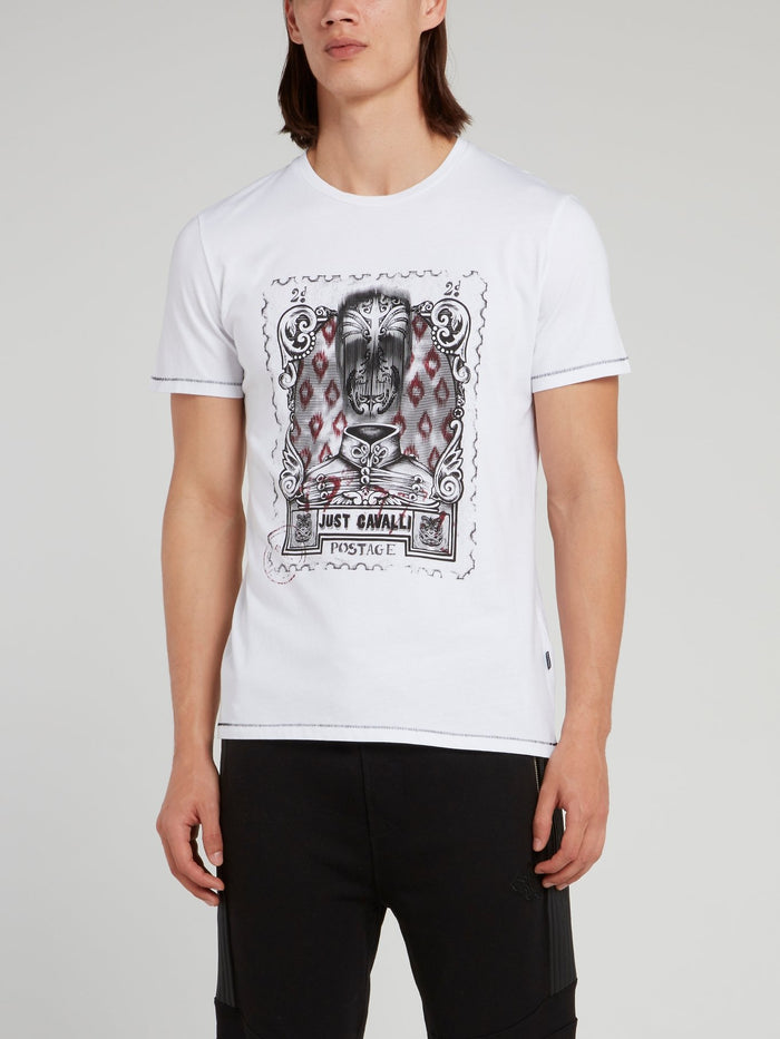 White Postage Stamp T-Shirt