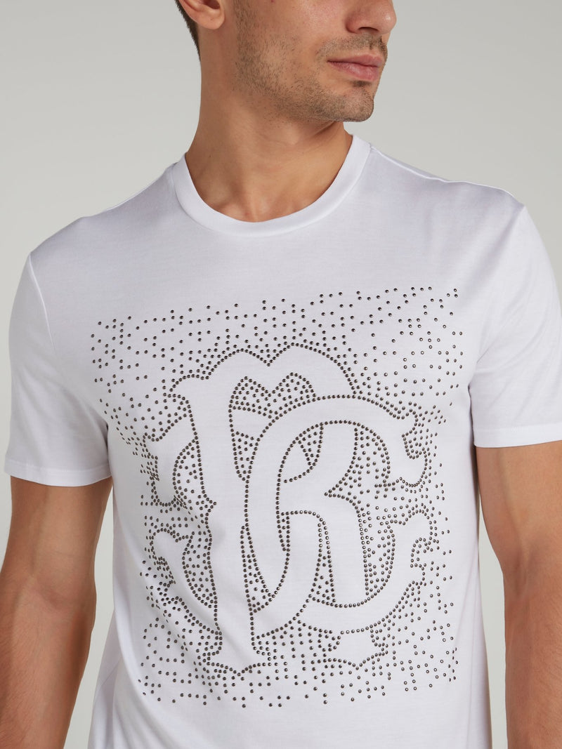 White Multi-Stud Logo Shirt