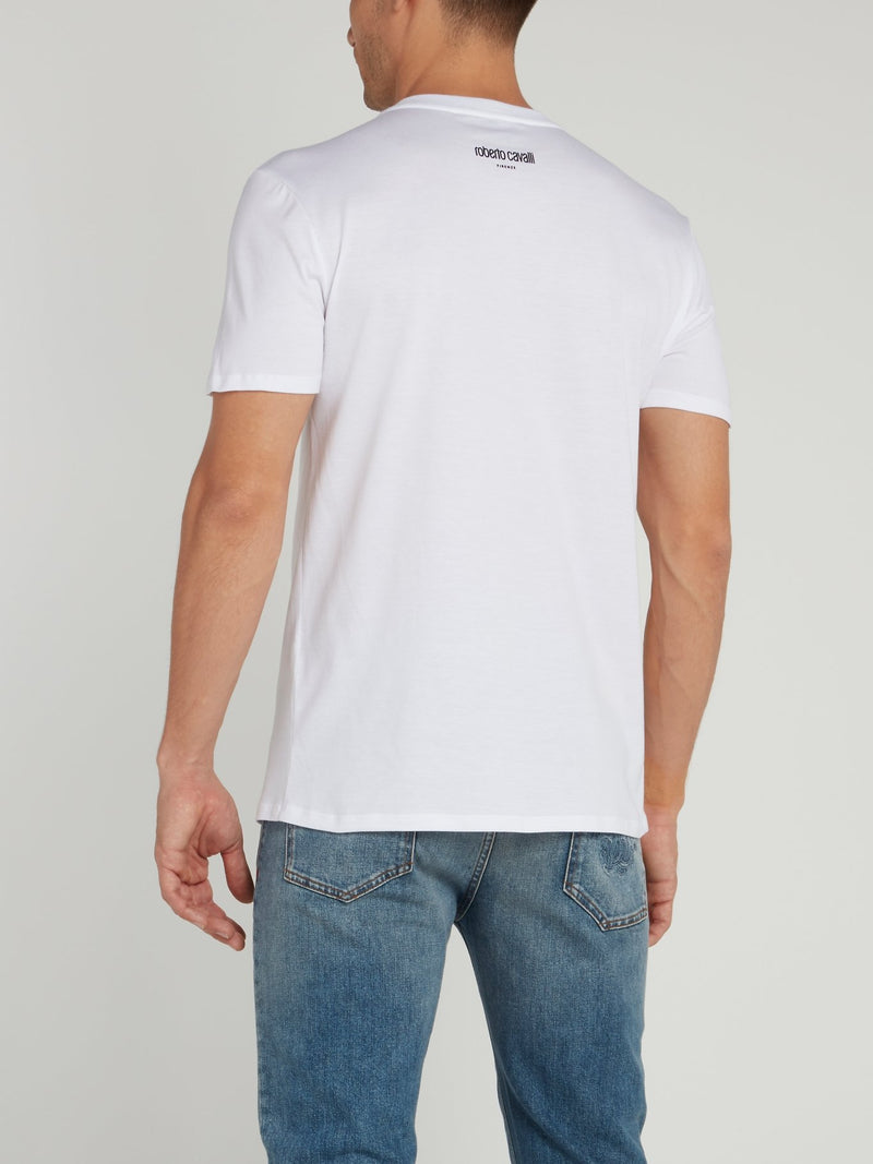 White Logo Knitted Shirt