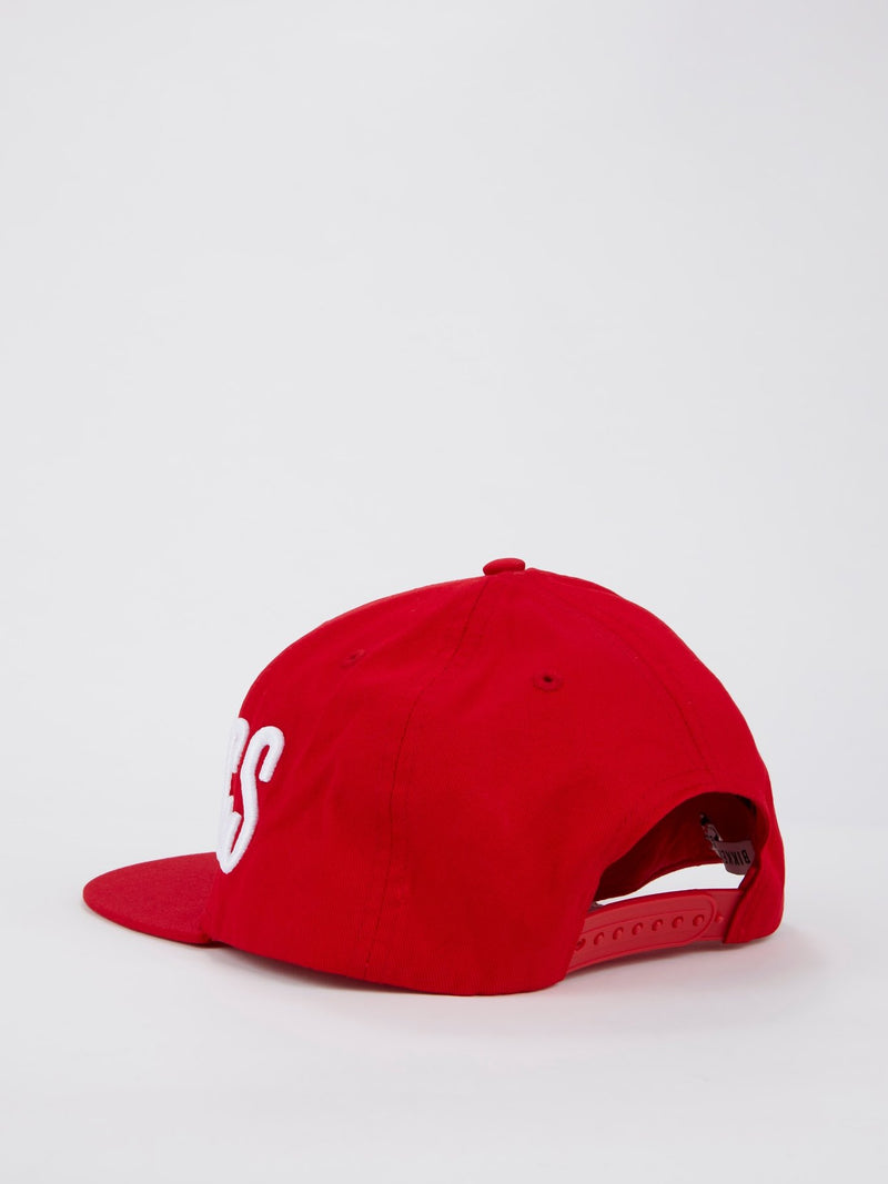Red Logo Embroidered Baseball Hat