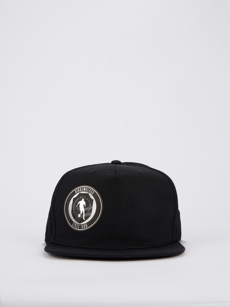 Black Sport Logo Patch Cap