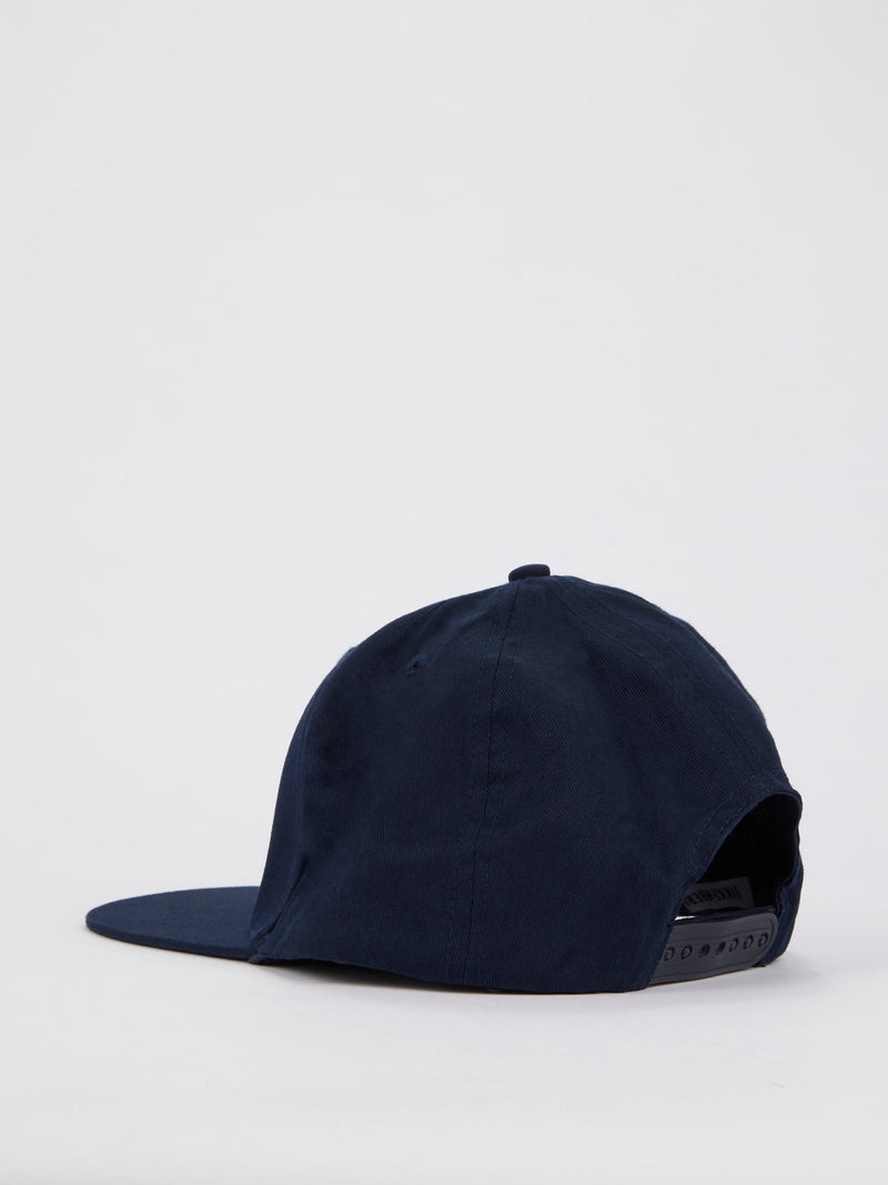 Navy Sport Logo Patch Cap