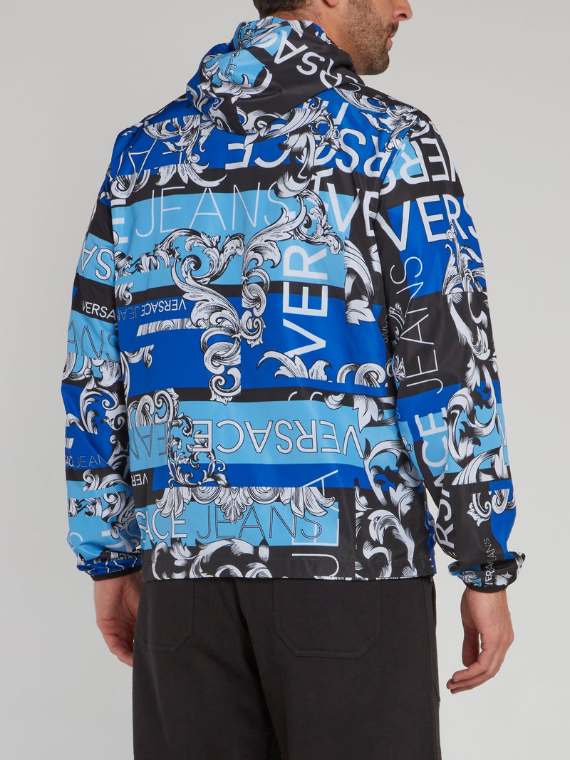 Blue Reversible Print Bernini Jacket