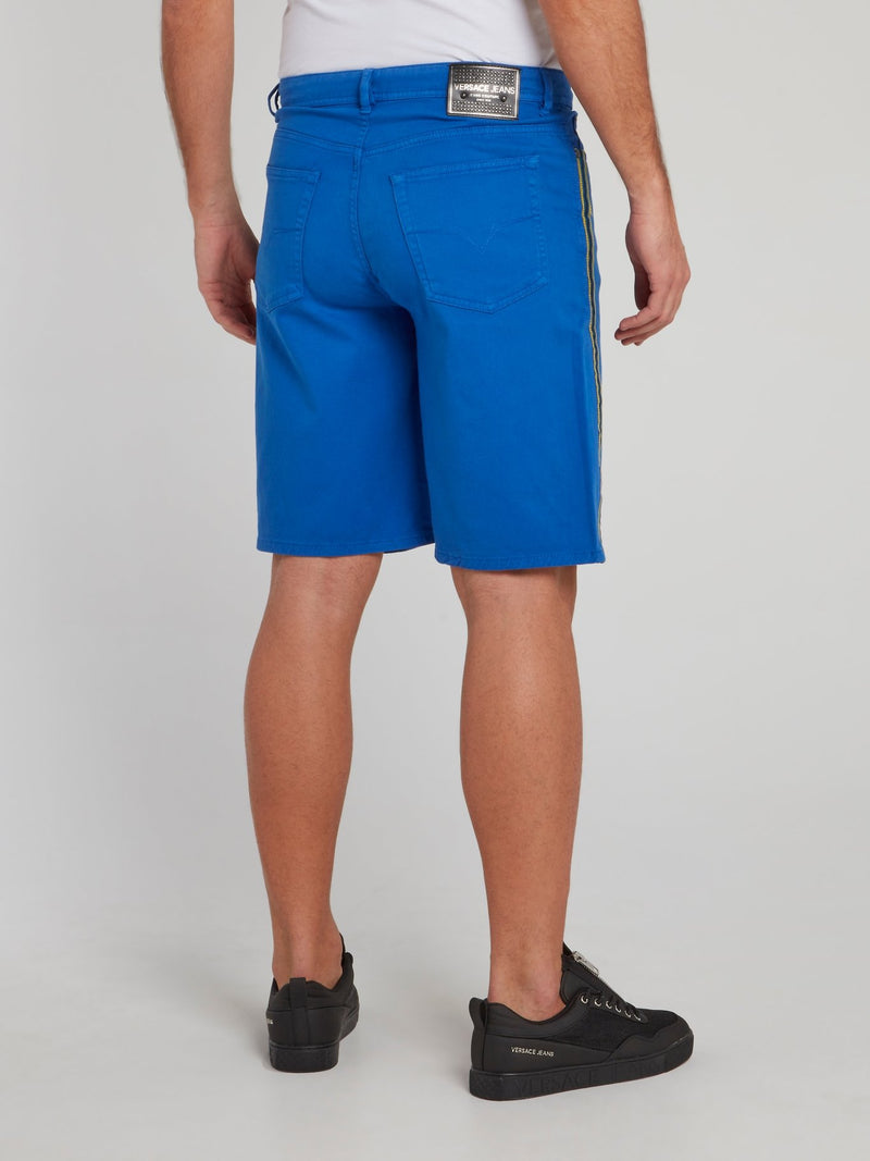 Blue Side Tape Shorts