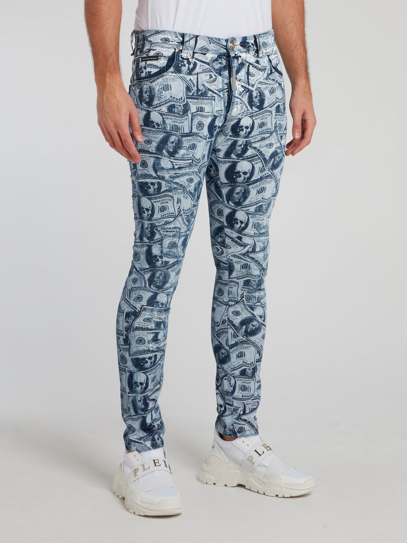 Dollar Skull Slim Fit Trousers