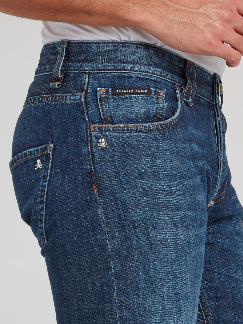 Straight Cut Denim Jeans