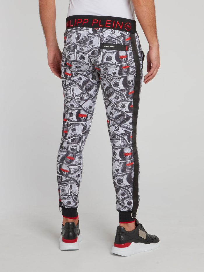 Dollar Skull Jogging Trousers