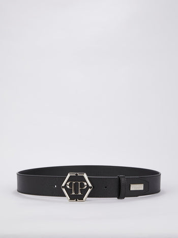 Black Statement Leather Belt