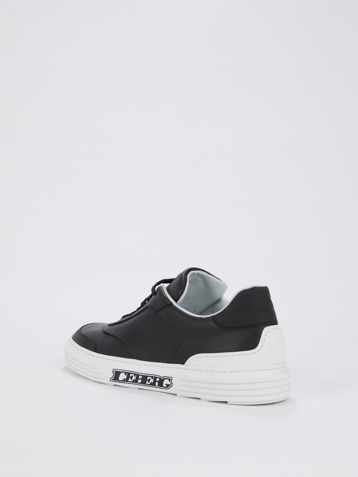 Black Low Top Leather Sneakers
