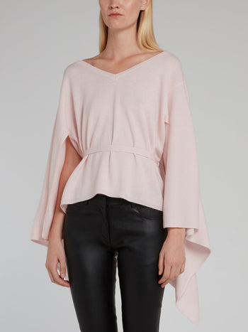 Pink Pullover Poncho