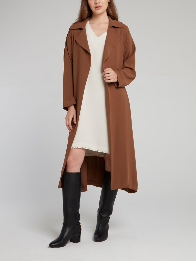Brown Belted Trench Coat
