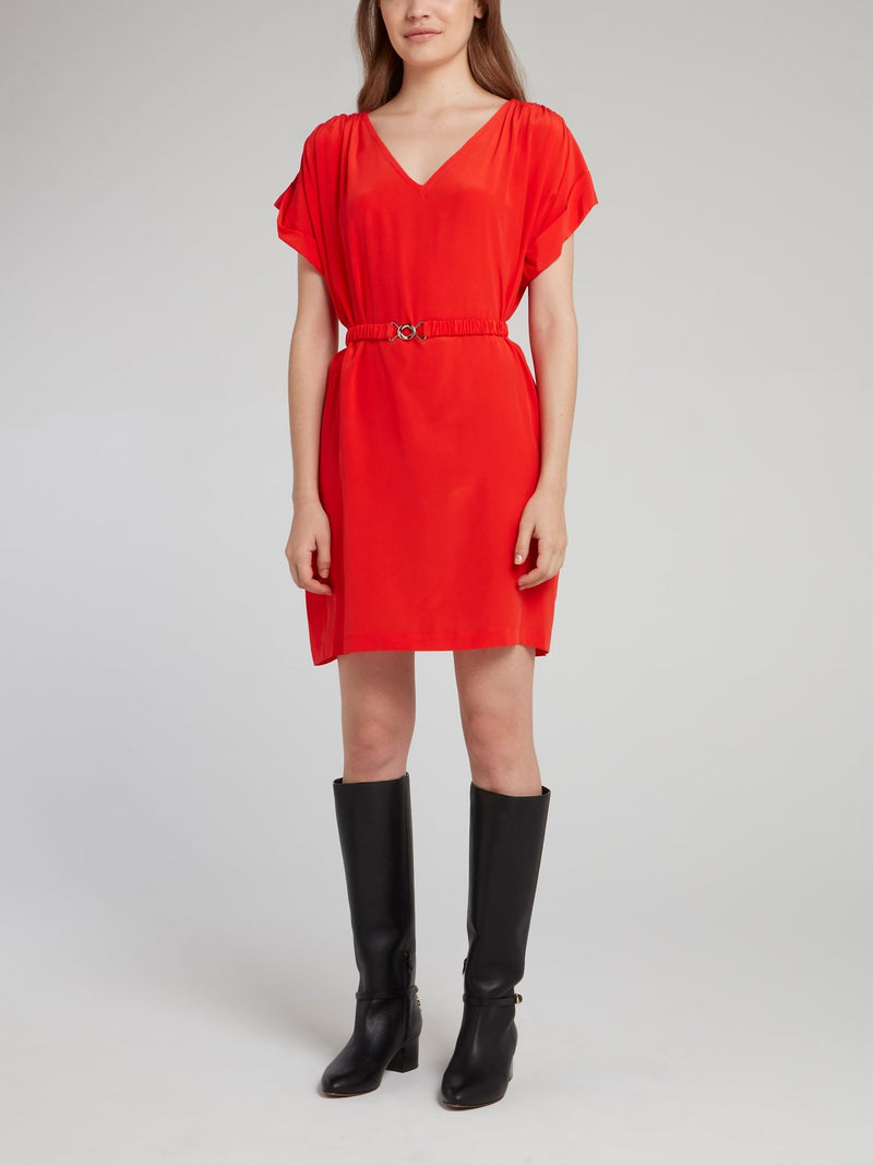 Pavot Belted Silk Dress
