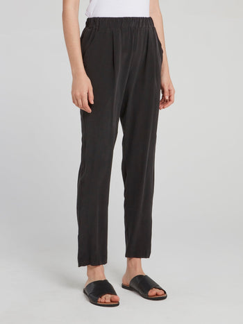 Noir Cropped Tapered Pants