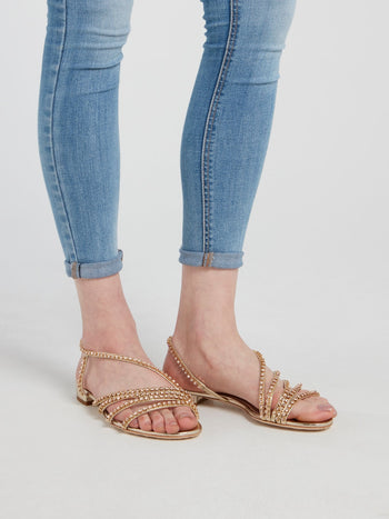Camila Embellished Flat Sandals