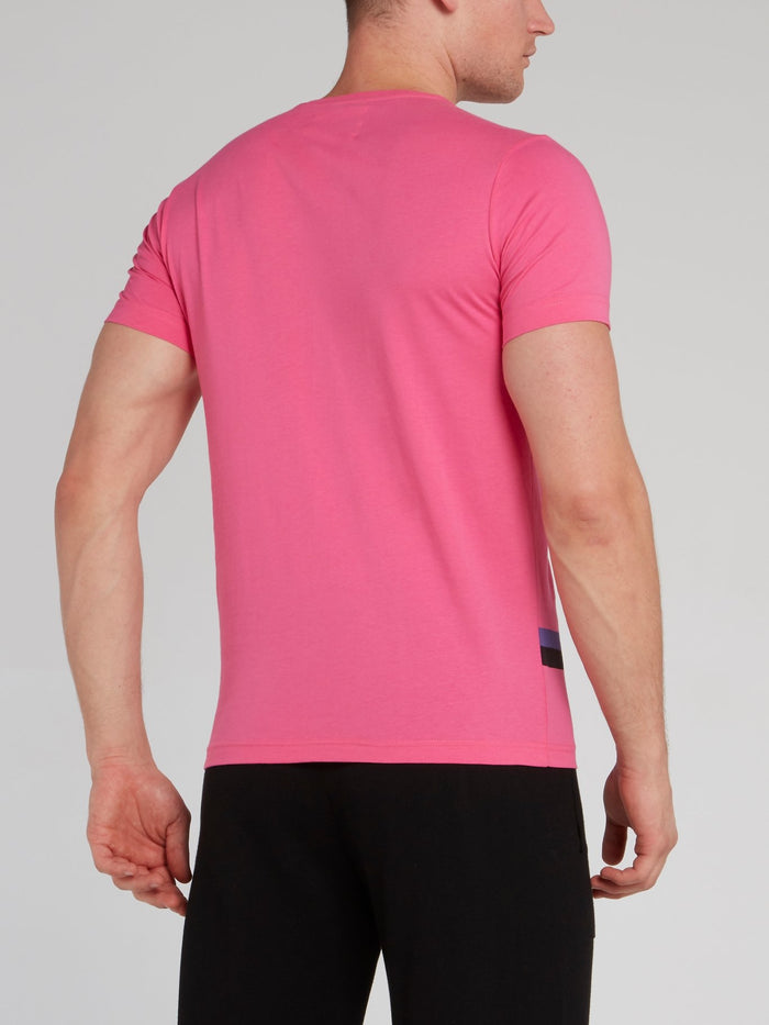 Pink Graphic Embroidered T-Shirt
