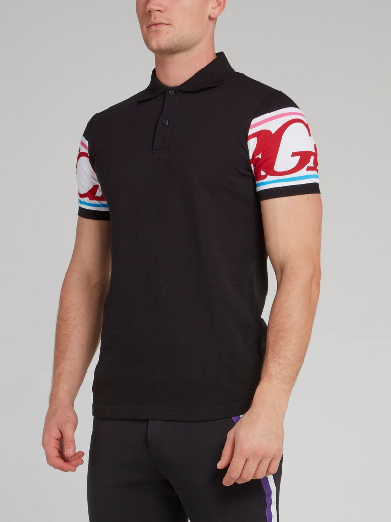 Black Rear Logo Polo Shirt