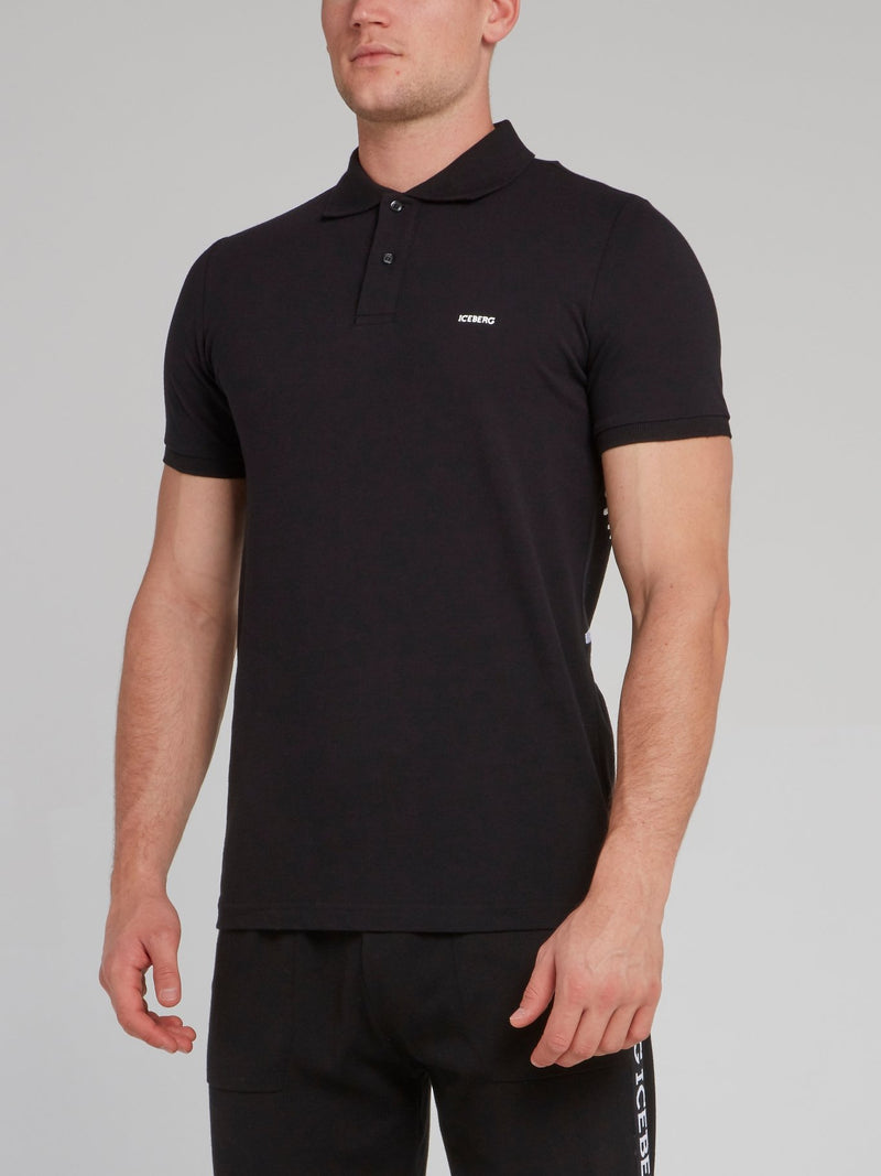 Charlie Brown Black Polo Shirt