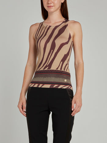 Animal Print Knit Tank Top