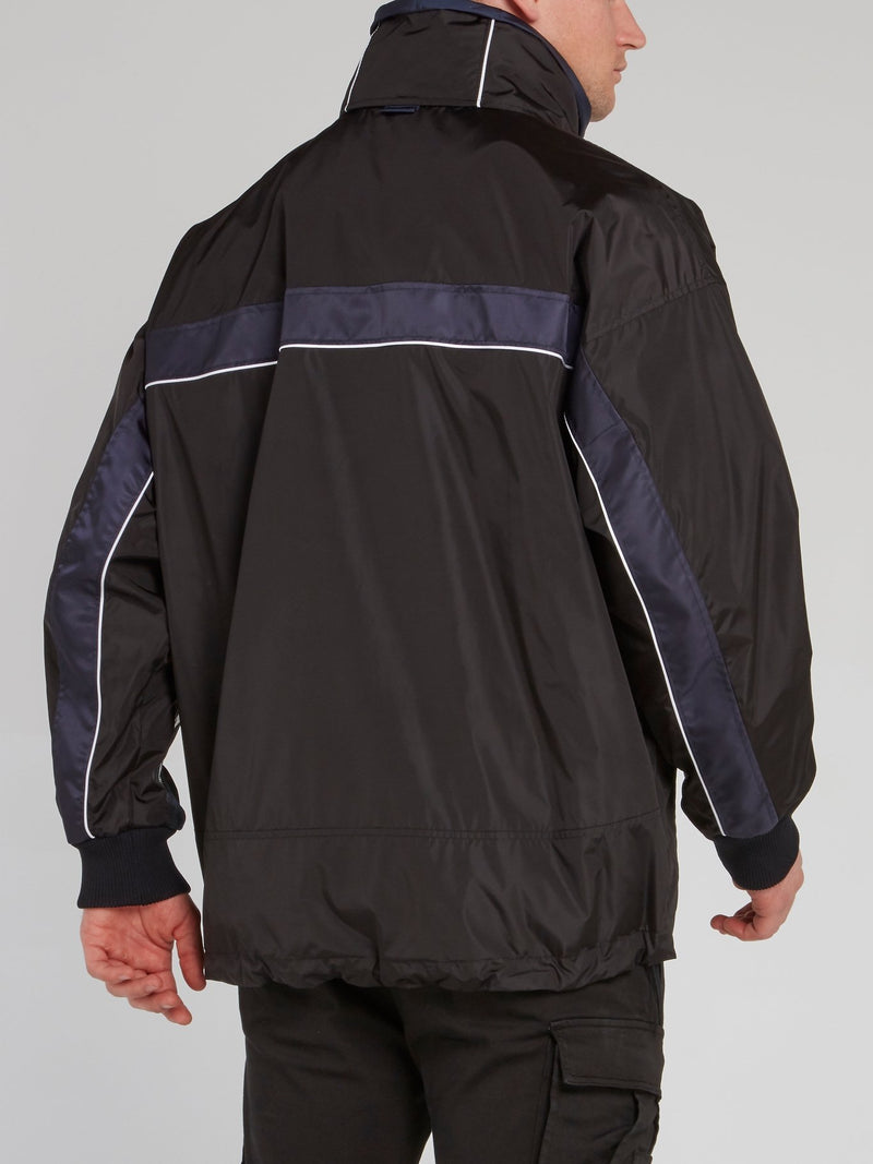 Black Nylon Sports Jacket