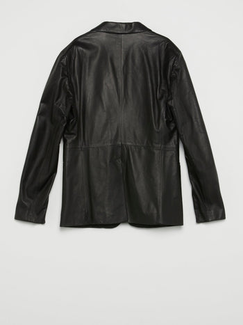 Black Micro-Stud Leather Jacket