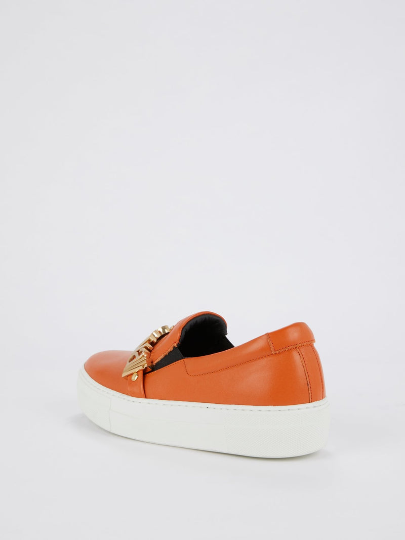 Coral Slip On Logo Sneakers