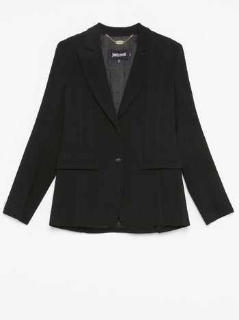 Black Stitch Detail Jacket