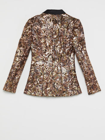 Gold Victorian Sequin Jacket