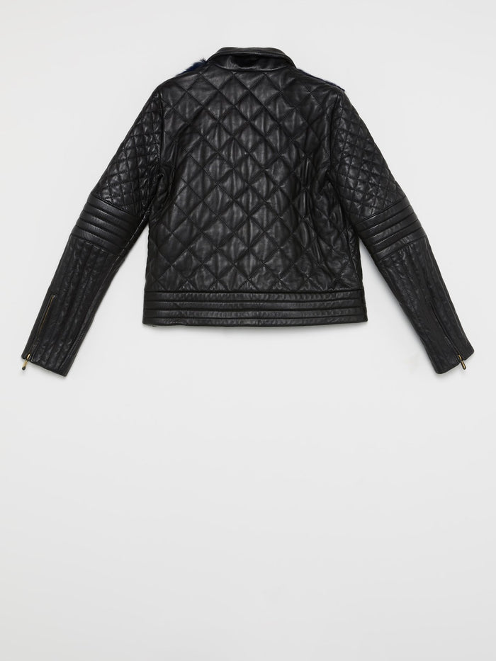 Fur Panel Quilted Jacket