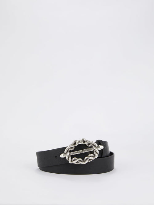 Black Snake Buckle Belt