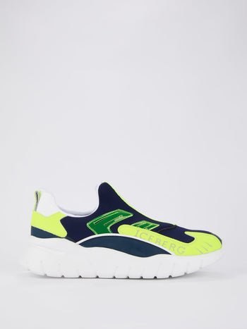 Neon Panel Slip On Sneakers