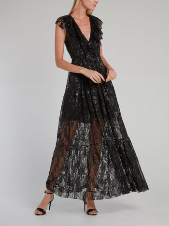 Sabrina Sequin Mesh Dress