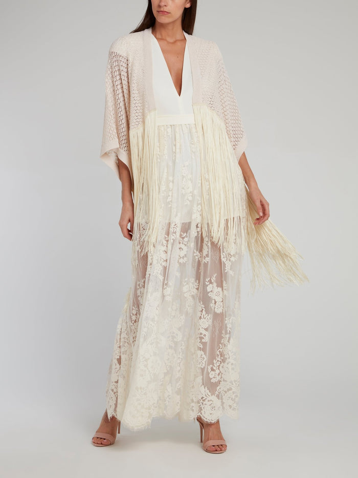 Grace White Lace Overlay Jumpsuit