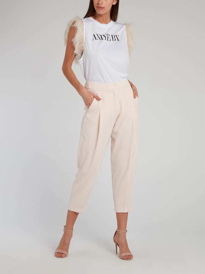 Meta Beige Tapered Trousers