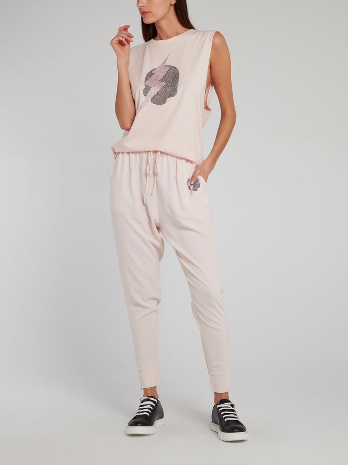 Jane Pink Studded Harem Pants
