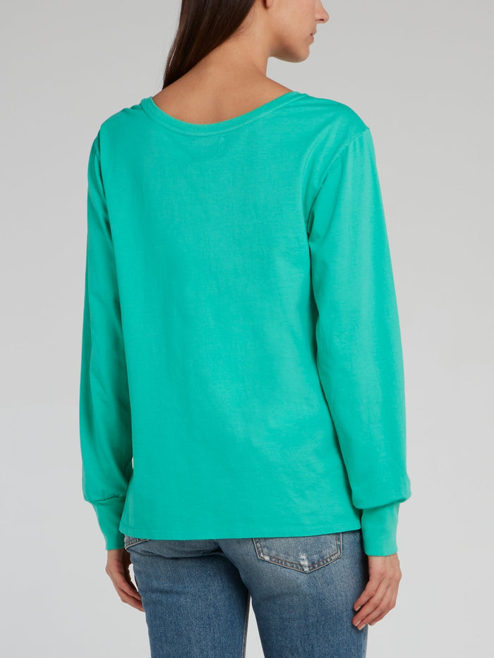 Miley Green Statement Pullover