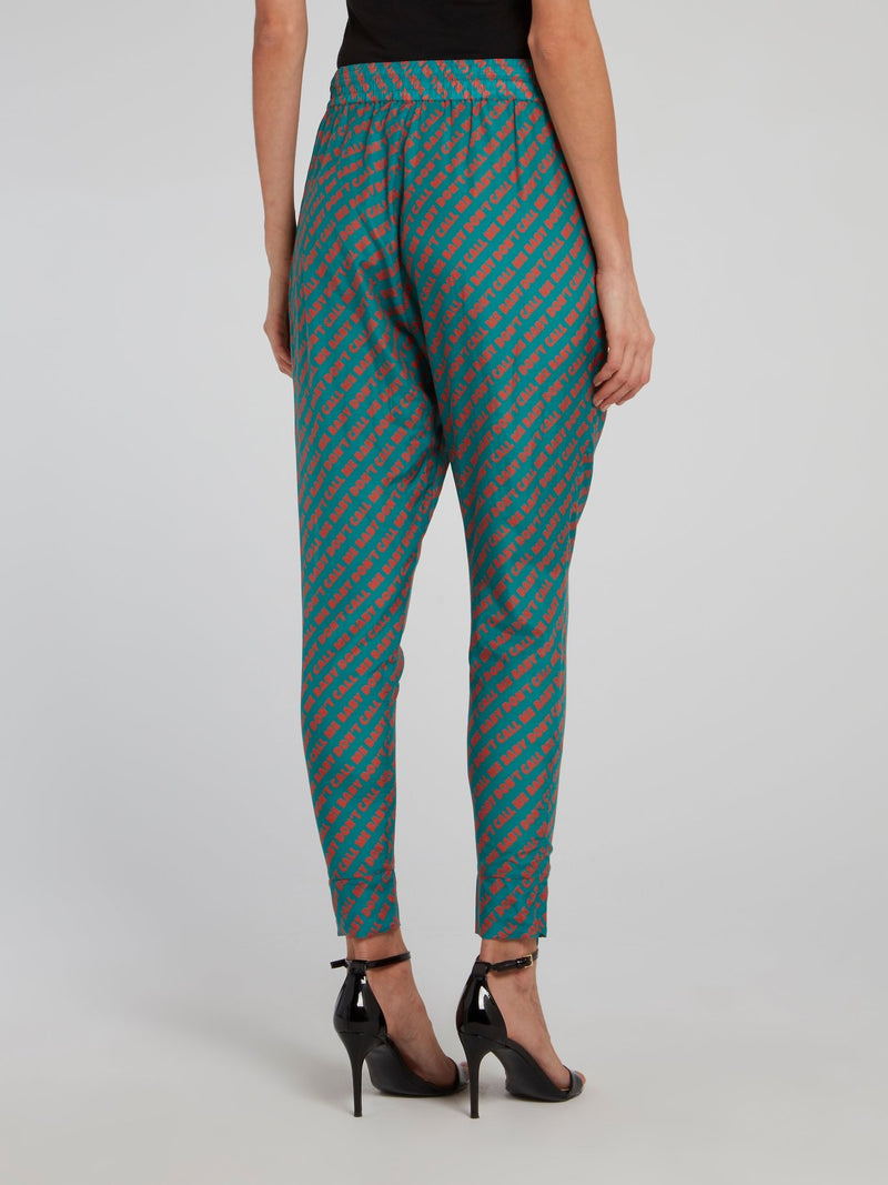Jane Monogram Print Harem Pants
