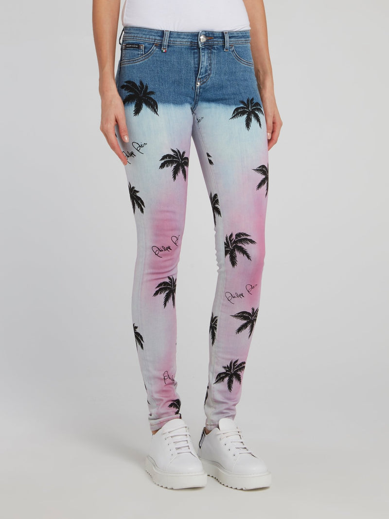 Aloha Plein Denim Jeggings